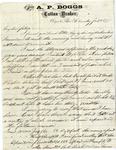 Correspondence to General William Robertson Boggs, 1870s: January 21, 1875 - November 6, 1878