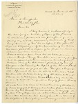 Letter: Lafayette McLaws to Isaac R. Pennypacker, March 13, 1888