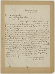 Letter: Lafayette McLaws to Isaac R. Pennypacker, August 19, 1886 by Lafayette McLaws