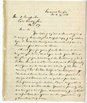 Letter: Lafayette McLaws to Isaac R. Pennypacker, March 27, 1886