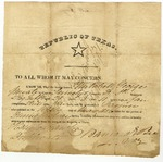 Honorable discharge of Mitchell George signed by Barnard Bee