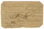 Wade Hampton battlefield note