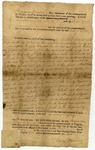 Land grant to Andrew Hynes, signed by Benjamin Harrison June 1, 1782