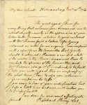 Letter from Richard Henry Lee to an unnamed Colonel