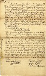 Recognizance signed by Ezra Houghton and Josiah Wilder