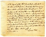 Affadavitt, signed by Lyman Hall
