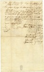 Receipt [docket] of payment to William Williams by William Williams