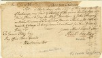 "Bill of Exchange for ₤42 drawn on The ""Pay Office Horse Guards"", signed by Richard Gridley by Richard Gridley"