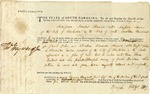 Warrant signed by Isaac Huger, Charleston, 1785.