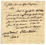 Letter from Oliver Wolcott to John Lawrence