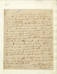 Letter in which Daniel Morgan refuses Henry Knox's request for assistance in fighting Native Americans. 1792.