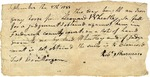 Receipt for a transaction between Leonard Wheatley and Robert Sharman, signed by Daniel Morgan, 1788.
