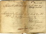 Land grant to Robert Brodie, Camden, South Carolina, 1794, featuring signature of William Moultrie.