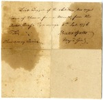 Note granting Lieut. Samuel Dogget leave for a month. Signed by Horatio Gates, Ticonderoga, New York, 1776.
