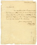Oliver Ellsworth letter written in Bath, England regarding U.S relations with France, 1801.