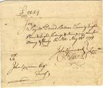 Order to pay David Bottom, signed by Oliver Ellsworth, 1778.