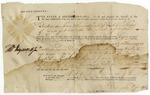 Warrant for Richard Shaw, signed by Thomas Heyward, Jr. Charleston, 1786.