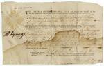 Warrant for Richard Shaw, signed by Thomas Heyward, Jr. Charleston, 1786.