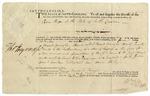 Warrant signed by Thomas Heyward, Jr. for Isaac Huger. Charleston, 1788.
