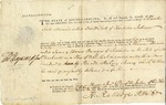Warrant signed by Thomas Heyward and Isaac Huger for David Scott. Charleston, 1786.