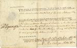 Warrant signed by Thomas Heyward and Isaac Huger for David Scott. Charleston, 1786.