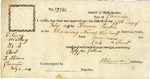 Receipt for one cask of Bordeaux wine, signed by Benjamin Lincoln at the port of Gloucester, Massachuetts, 1805.