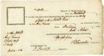 Import certificate for one cask of Bordeaux wine received at Marblehead, Mass., signed by Benjamin Lincoln, 1806.