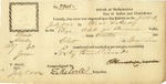 Receipt for one chest of green tea signed by Benjamin Lincoln and Thomas Melvill at Boston, 1810.