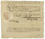 Form of verification of the delivery of merchandise, signed by Tobias Lear, Cape Francois, Santo Domingo (present-day Cap Haitien, Haiti), 1801.
