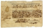 Warrant for John Hamilton signed by John F. Grimke, Charleston, South Carolina, 1789.