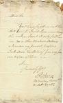 Letter from Pierce Butler to John Ross requesting money, 1795.