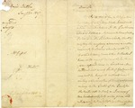 "Letter from Pierce Butler regarding his ""Salvadore lands"" in South Carolina. 1806."
