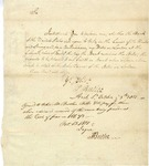 Letter from Pierce Butler to a Mr. Simpson, an employee of the Bank of the United States, regarding financial matters. 1801.