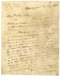 Caesar Rodney letter to his son John Rodney, dated 1818, Wilmington, Delaware.