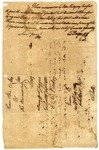 Warrant for John Abercromby, signed by Charles Cotesworth Pinckney, 1785.