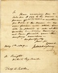 Letter from James Wilkinson to J(?) Knight