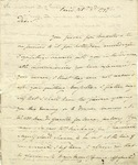 Letter from Charles Cotesworth Pinckney to Elbridge Gerry; Paris, 1797.