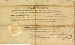Appointment of Samuel Briscoe to be coroner, signed by Isaac Shelby. Kentucky, 1814.