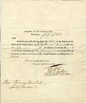 Enclosure for a check drawn on Bank of the United States by Treasurer of the United States, Thomas T. Tucker, to Francis Nichols.