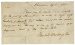Bushrod Washington, a justice of the Supreme Court of United States, requests $875 be paid to Charles Simms, collector at the port of Alexandria, April 1, 1801.