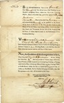 1793 License for Elizabeth Prinner(?) to keep and inn or tavern that sells liquor, New York City, 1793. Signed by Richard Varick, Mayor.