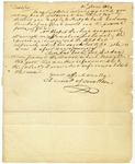 Charles Carroll letter in which he discusses business matters, the health of his daughter, and the weather. 1829.