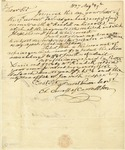 Charles Carroll letter regarding business matters, repairs on his properties, and behavior of his tenants. 1827.