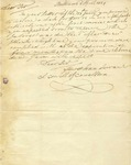 Letter from Charles Carroll of Carrollton concerning outstanding debt owed him. 1829.