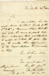 Banastre Tarleton writes to an English Army Quartermaster to inform him of a supply shortage. England, 1803.