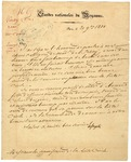 Letter from Marquis de Lafayette, in French. 1830.