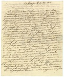 Marquis de Lafayette letter in French regarding a John Burell. France, 1830.