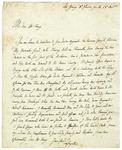 Marquis de Lafayette letter to James McHenry, 1801.