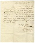 William Marbury letter regarding business and financial matters, 1800.
