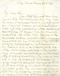 Wade Hampton Letter regarding memorium of General E. Lee to Colonel Charles Marshall, 1871.